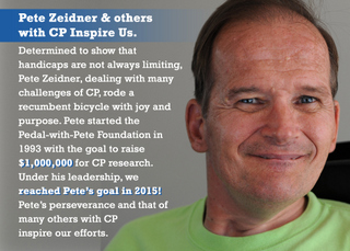 Peter Zeidner, Founder of Pedal-with-Pete Foundation
