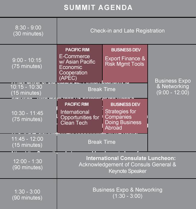 International Consulate agenda