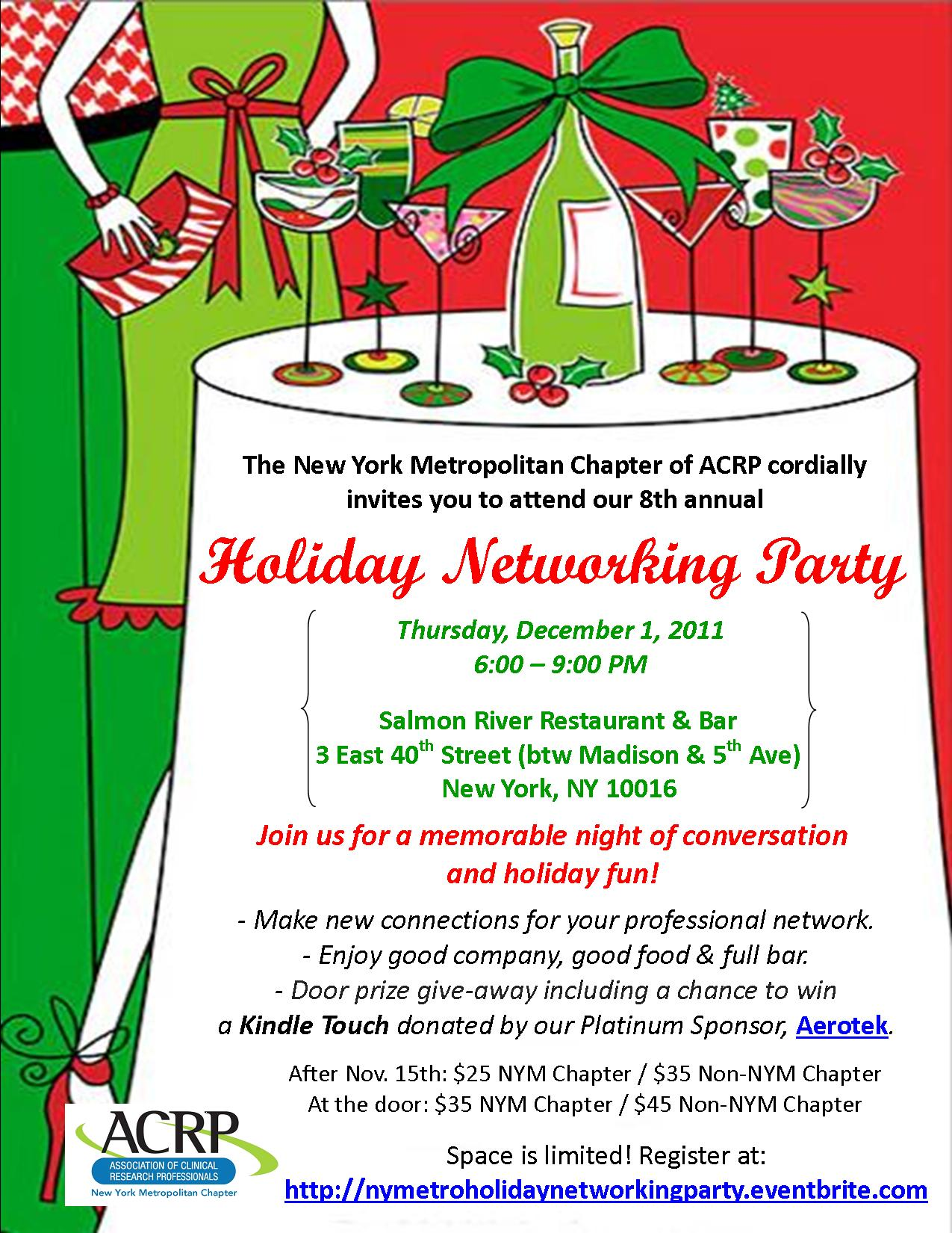2011 Holiday Party Event Flyer UPDATED 11-28-11