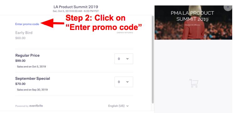 How to enter a promo code