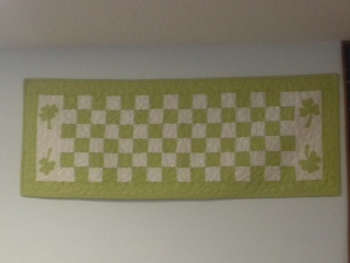 Scrappy Four-Patch Shamrock Table Runner