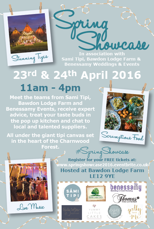 Spring Showcase - Meet Talented suppliers at Bawdon Lodge Farm, all under the canvas of a stunning Sami Tipi