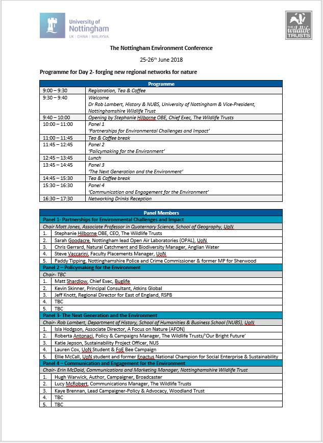 NEC Day2 Programme Updated