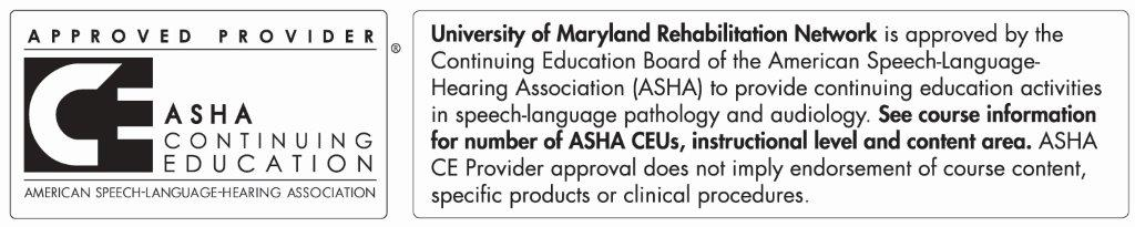 ASHA Approved Provider