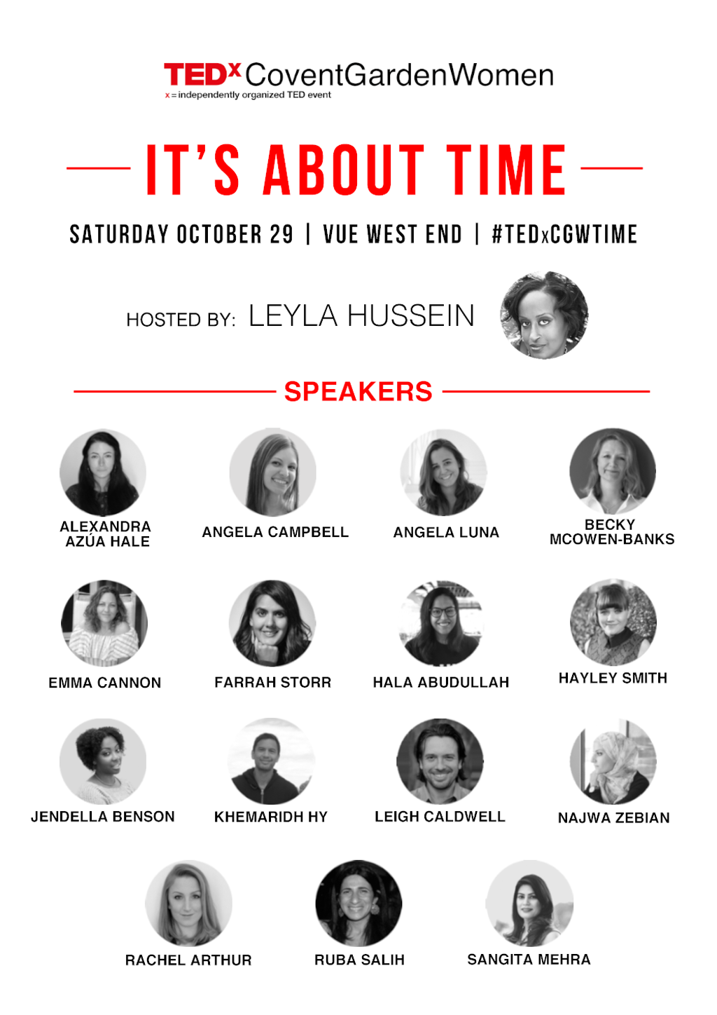 TEDxCoventGardenWomen 2016 Speakers