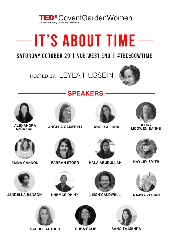 TEDxCoventGardenWomen 2016 Speakers