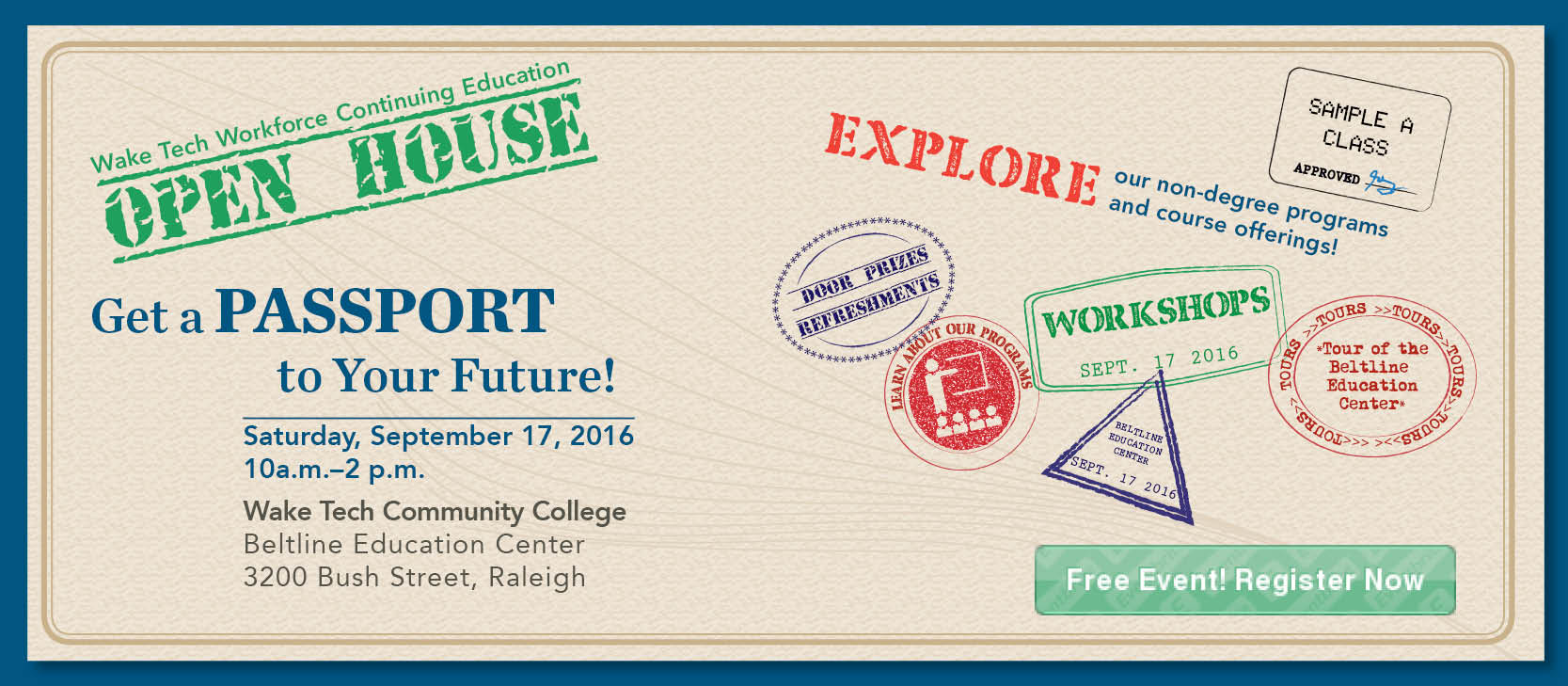Wake Tech Workforce Continuing Education Open House