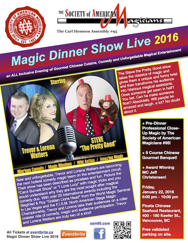 Magic Dinner Show Live 2016