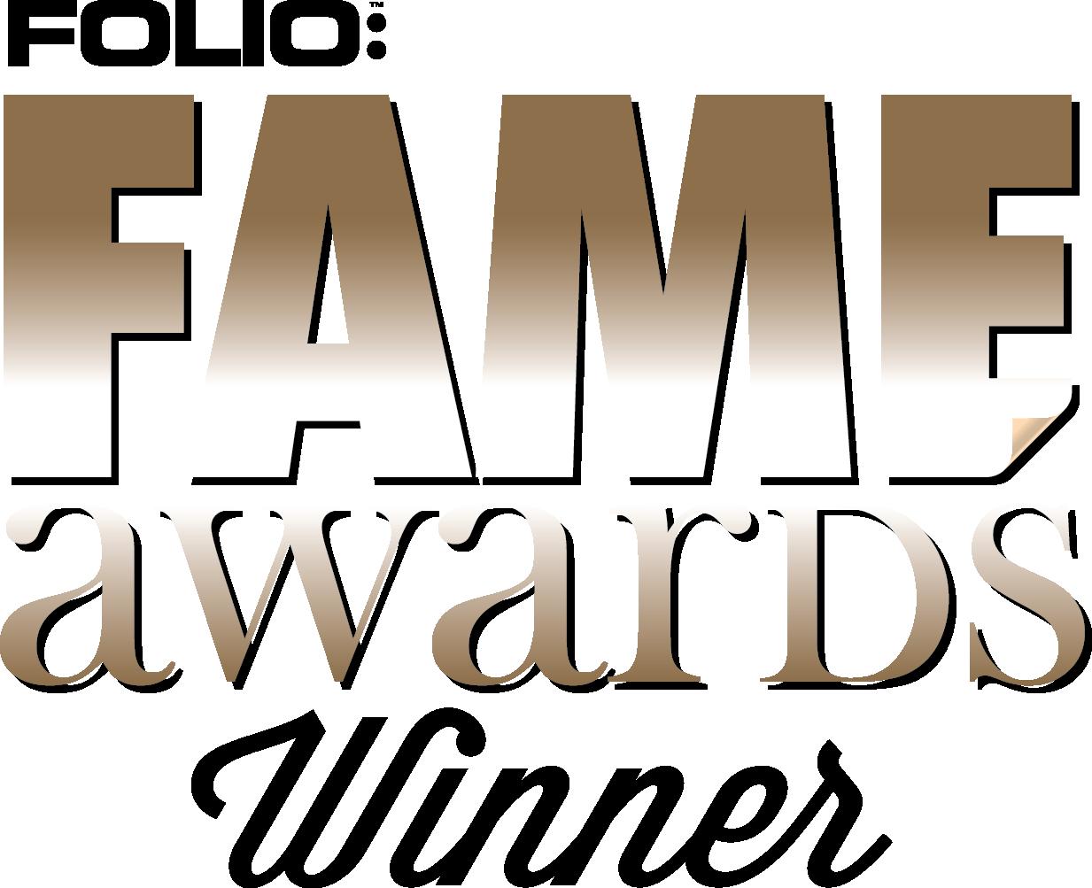 FOLIO FAME Award Winner
