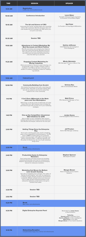 SEJ Summit Santa Monica Agenda