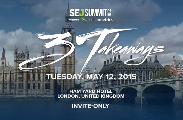 SEJ Summit 2015 London
