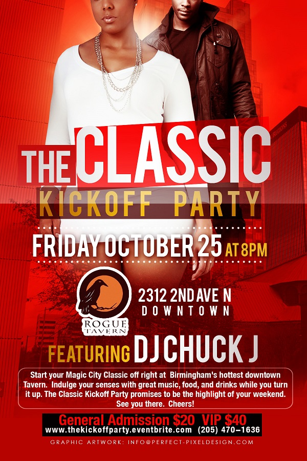 The Classic Kickoff Party starts the weekend off right on Friday October 25 at Rogue Tavern