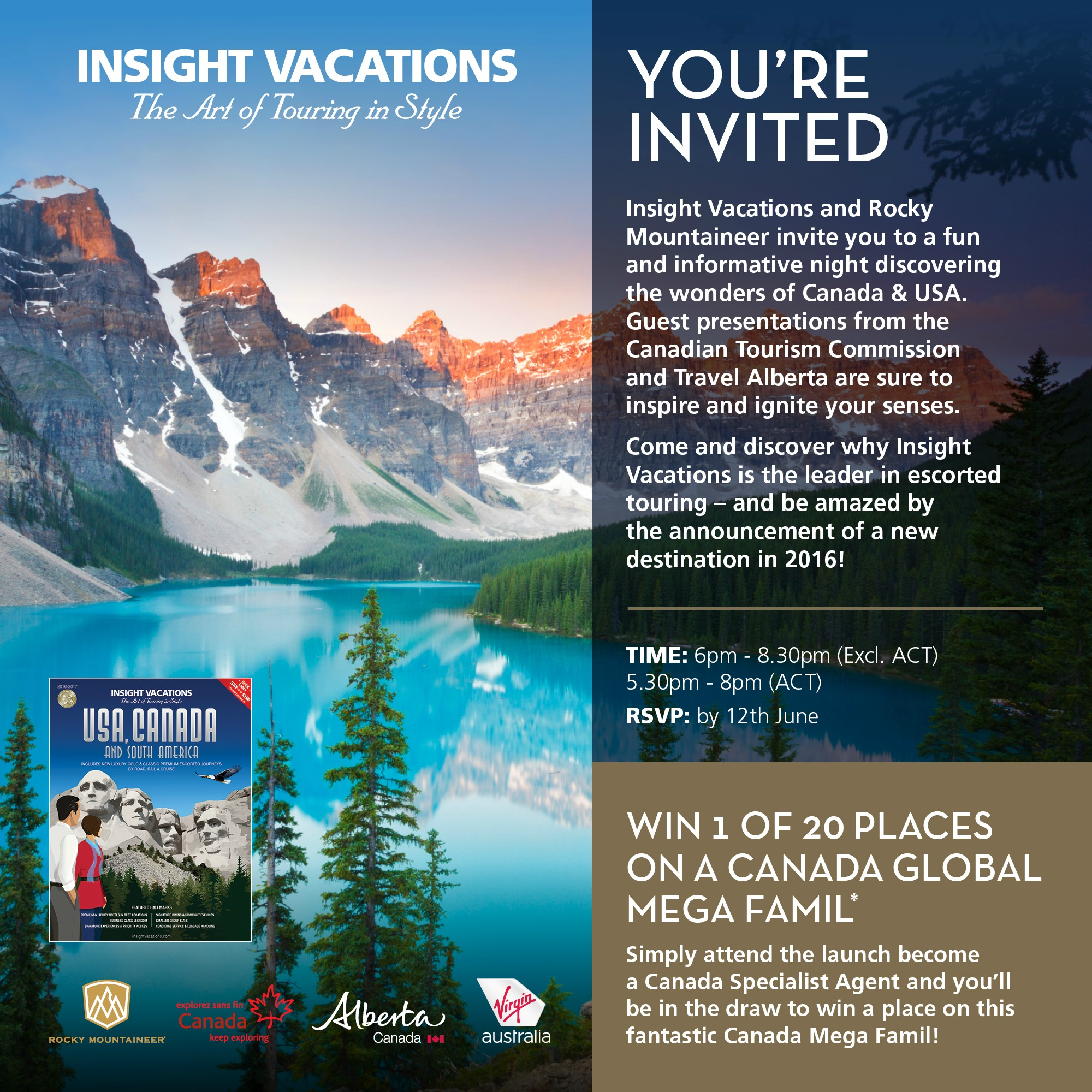 2016 USA/Canada Travel Agent Launch