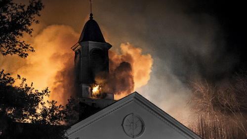Burning Steeple