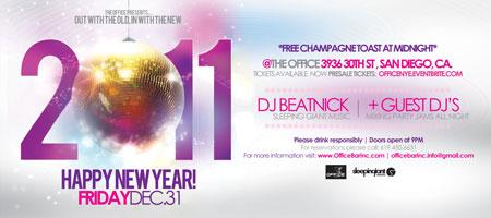 New Years Eve | The Office Bar | DJ Beatnick & Mr Mention +...