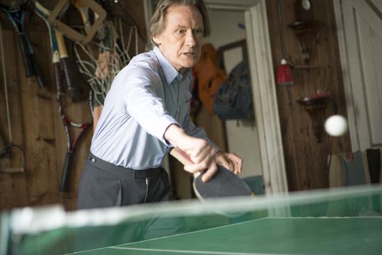 Bill Nighy playing ping pong