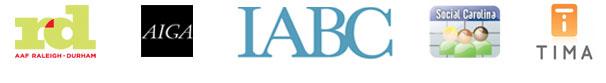 AAF-AIGA-IABC-Social-Carolina-TIMA-Logos