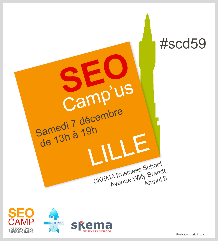 L'affiche du SEO Camp'us Lille 2013