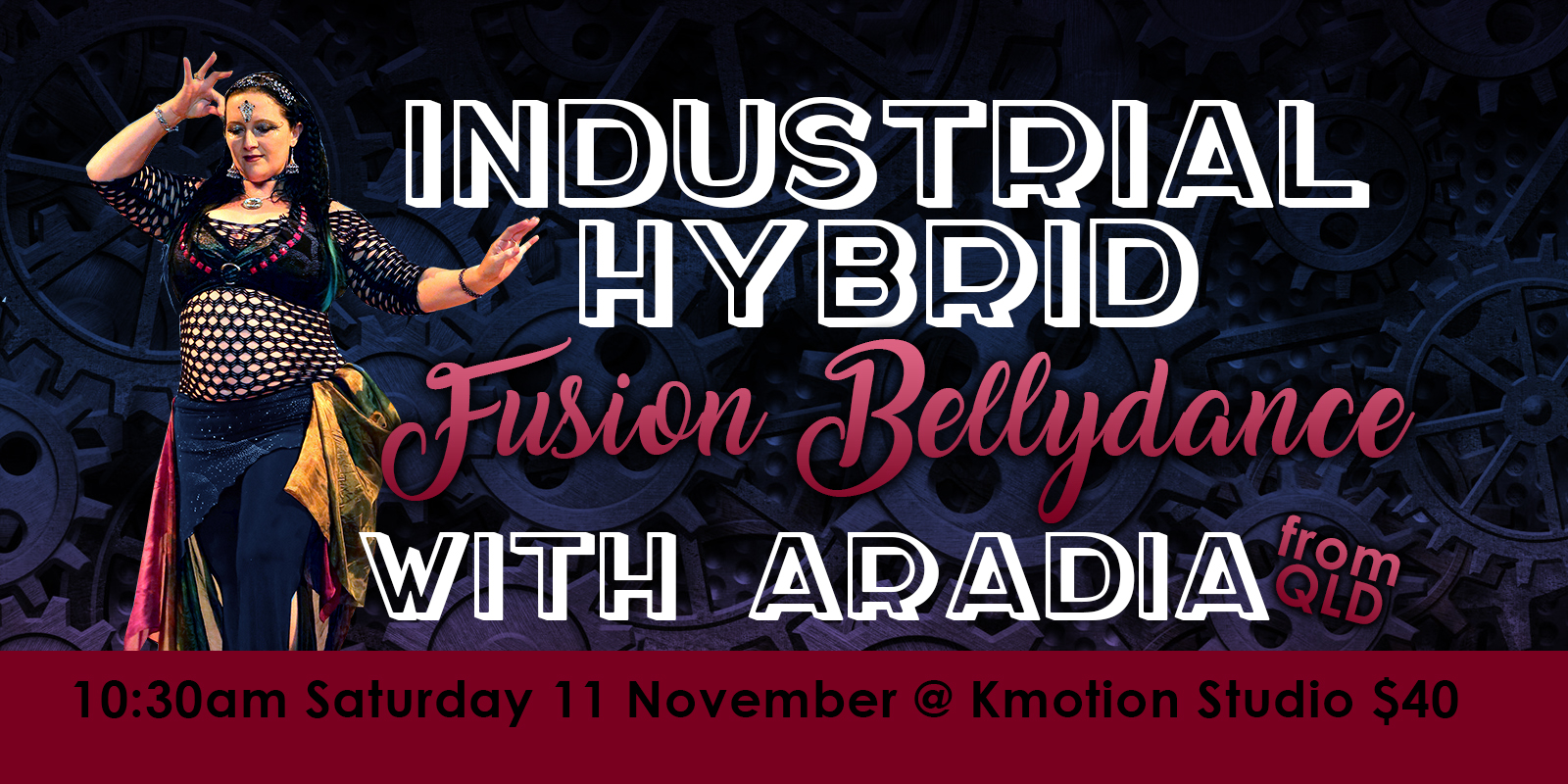 Industrial Hybrid with Aradia - Canberra Bellydance Fusion Workshop #JazidaProductions