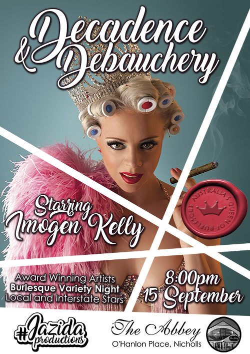 JazidaProductions Decadence and Debauchery with Imogen Kelly