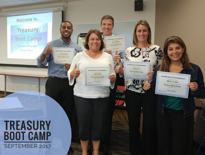 Treasury Boot Camp September 2017