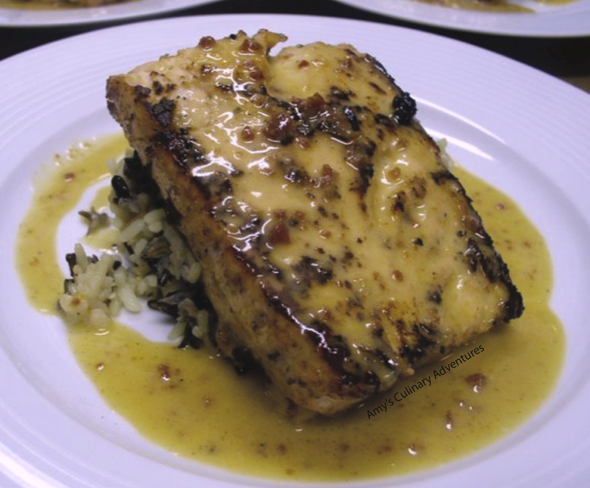 Pan Seared Salmon with Cajun Honey Cream Sauce