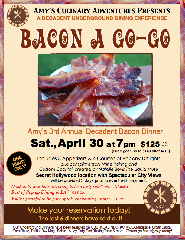 Bacon Underground Dinner Invite for April30