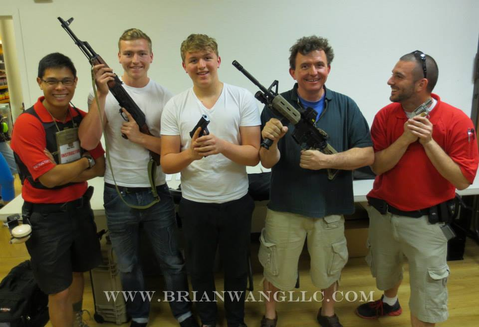 Bruno and his sons came to shoot on their visit from the UK!