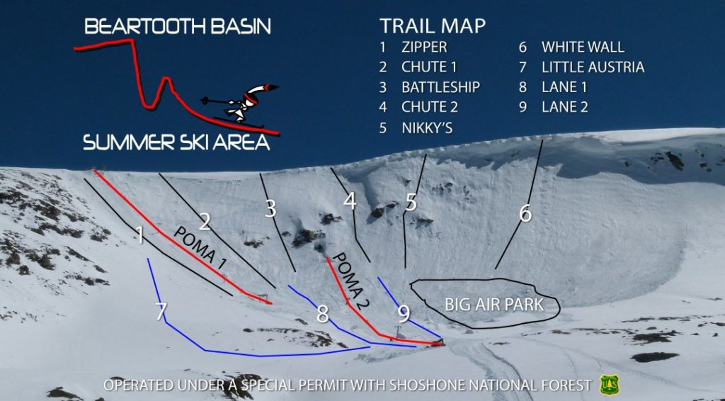 Beartooth Pass Ski Area Map