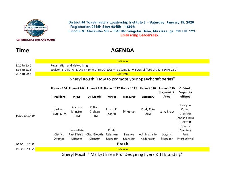 TLI January agenda (Page 1)