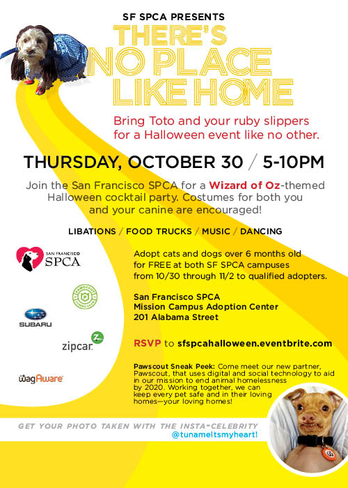SF SFPCA Halloween invitation