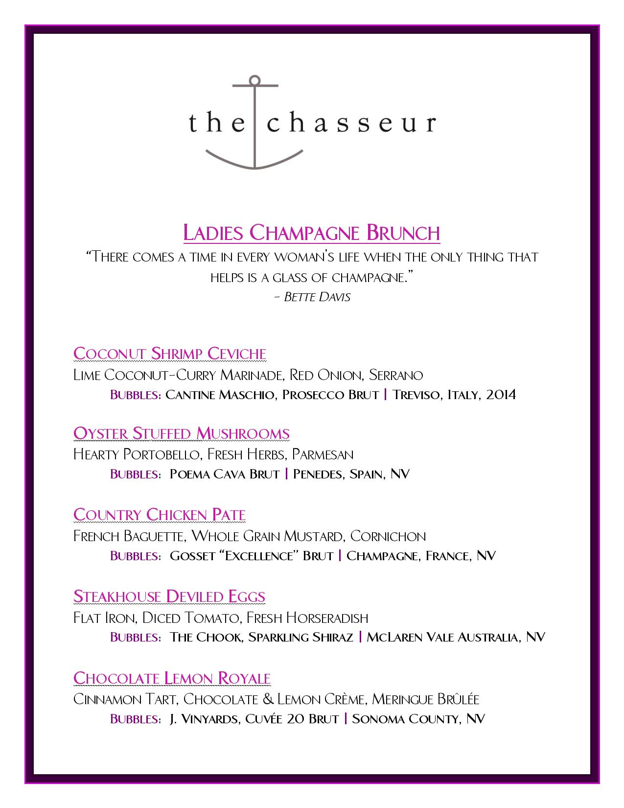Ladies Champagne Brunch February 2015