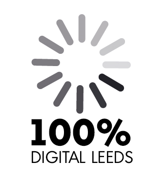 100% digital leeds logo