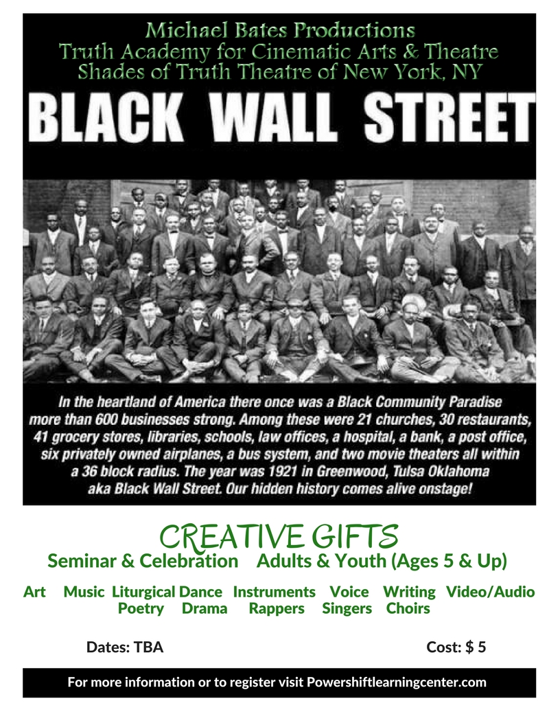 Wall Street Gifts Truth Academy For Cinematic Arts & Theatre Black Wall Street