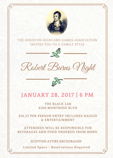 Burns Invitation