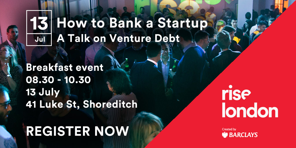Rise and Shine: How to Bank a Startup - a Talk on Venture Debt