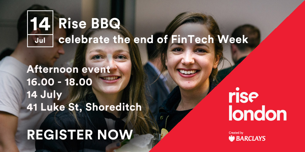 Rise BBQ - end Fintech Week in style at Rise London