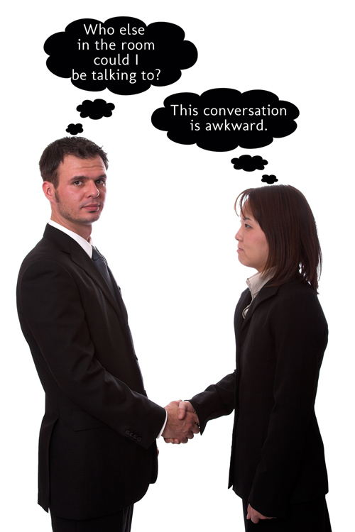 awkward networking scenario
