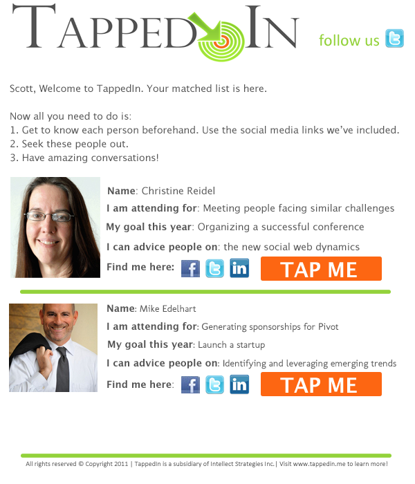 TappedIN Matched Email Sample