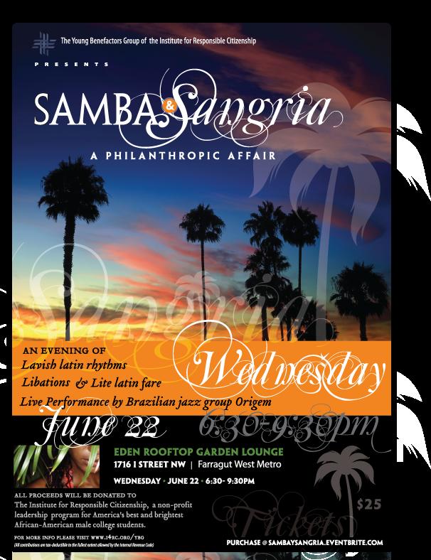 Samba and Sangria Flyer