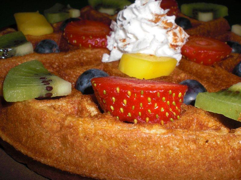 vegan dessert waffle