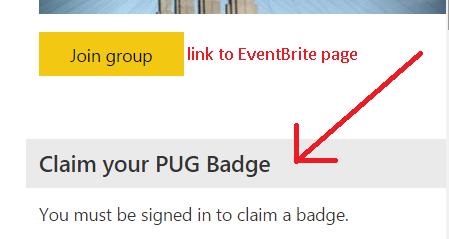 Claim your PUG Badge