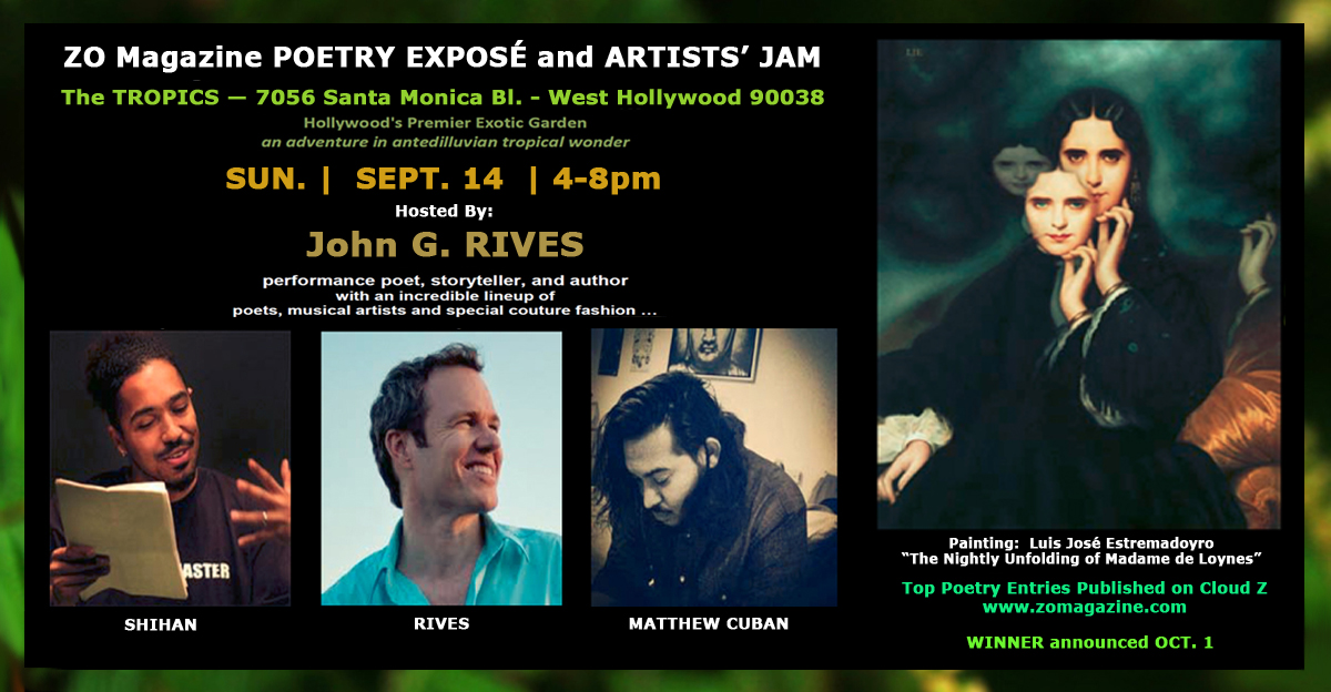 ZO Magazine POETRY EXPOSÉ and ARTISTS' JAM