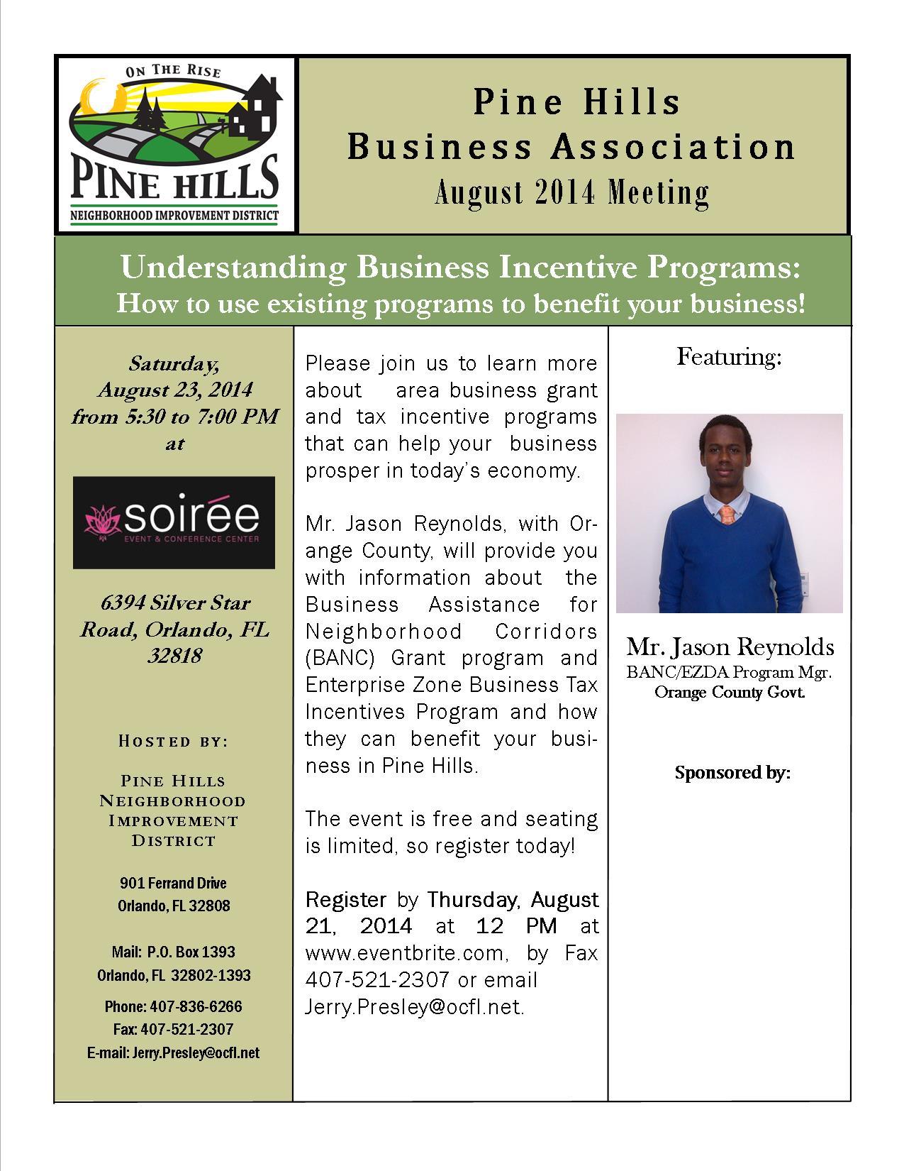 2014 Aug Business Associaiton Meeting