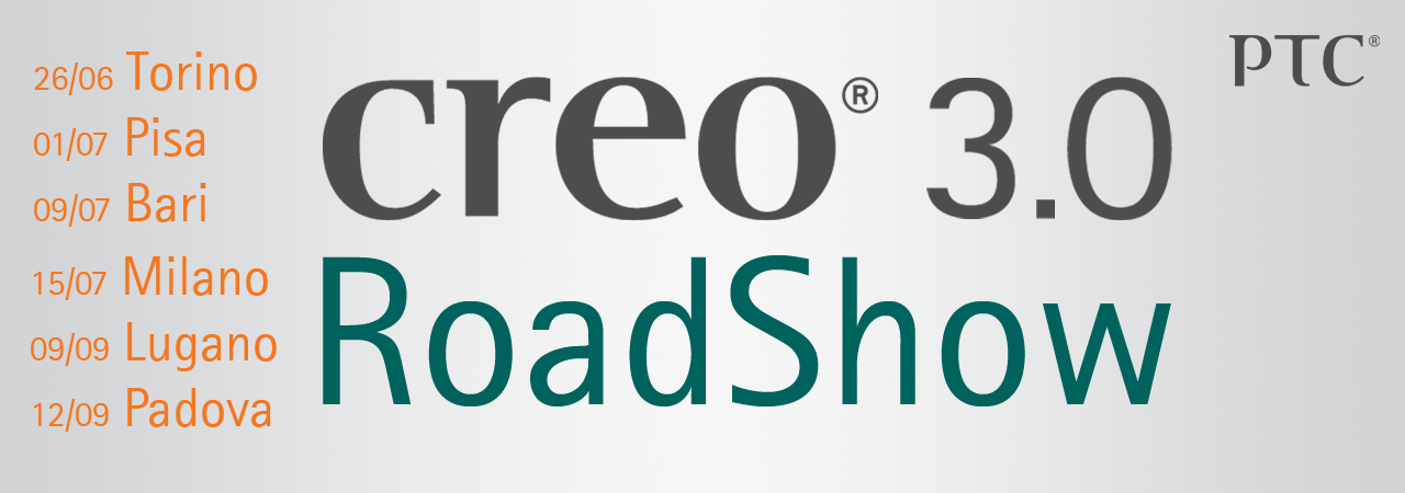 Logo Roadshow Creo 3.0 PTC