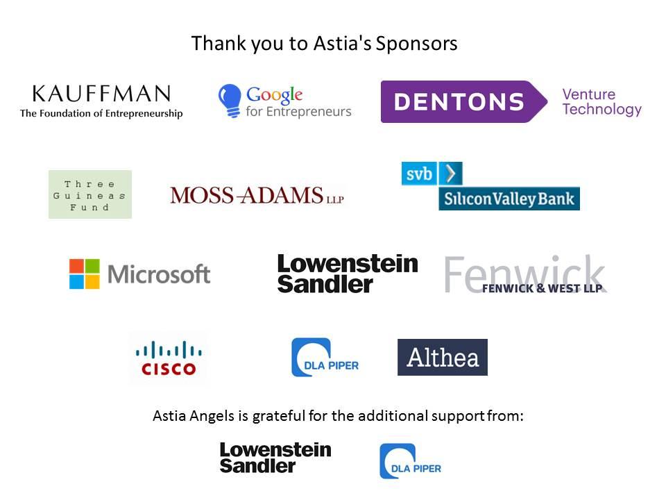 Astia Sponsors