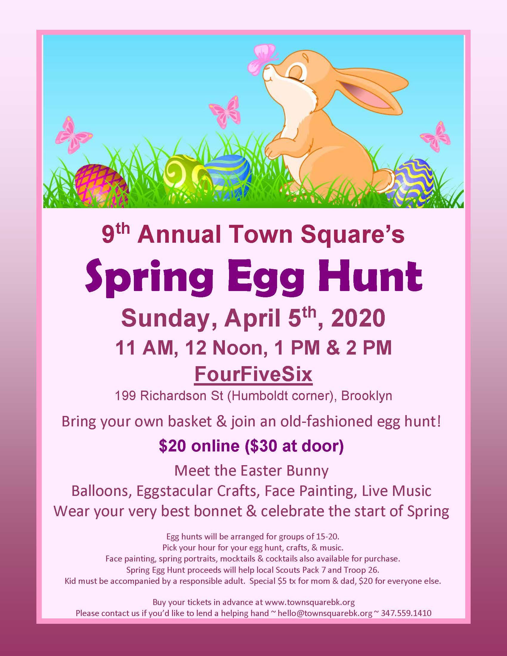Spring Egg Hunt flyer 2020