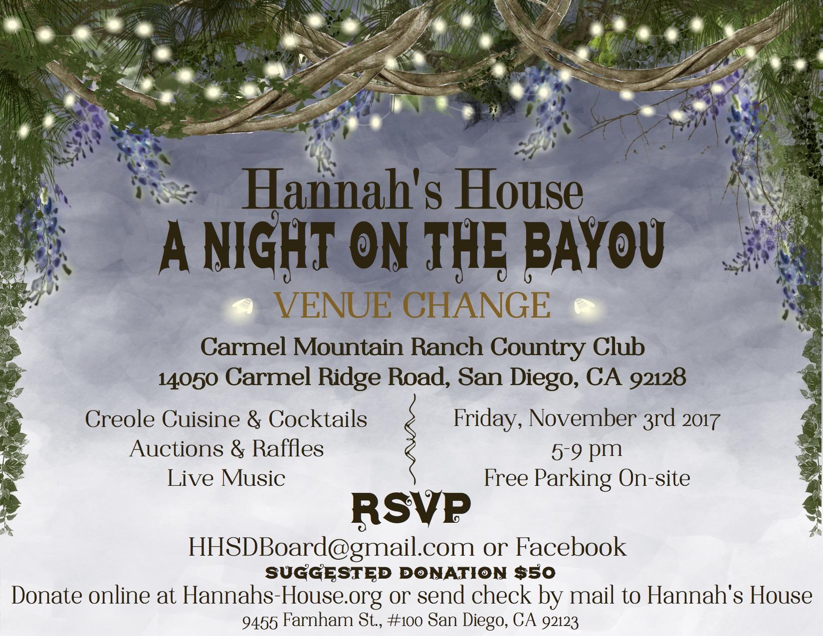 Hannahs House th Annual Gala Tickets Fri Nov 3 at 5