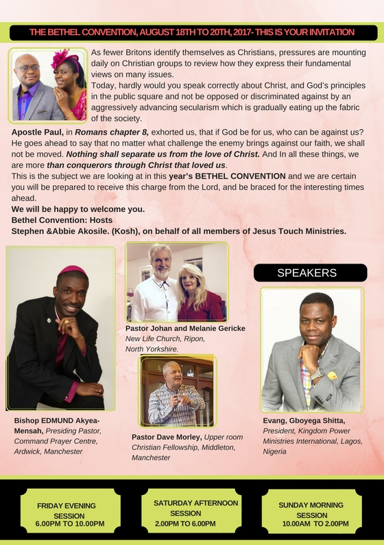 The Bethel Convention 2017 Flyer page 2