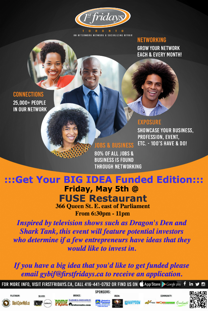 1st Fridays Get Your BIG IDEA Funded Venture Forum